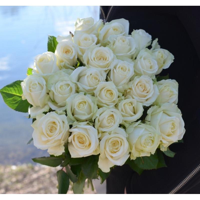 """Букет """"Вуаль"""" из 23 белых роз"""