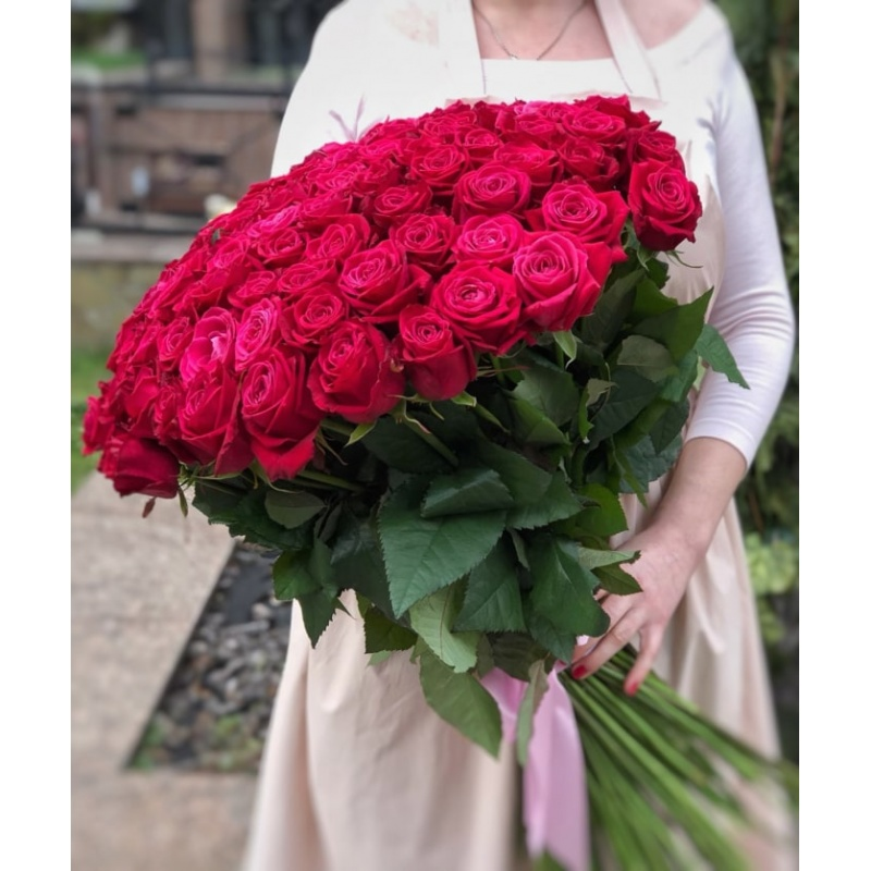 Букет из 101 розы сорта Шангрила