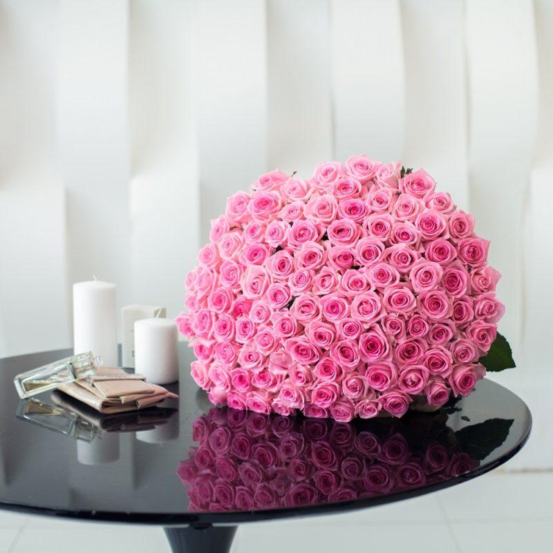 Букет из 101 розы сорта Ревивал