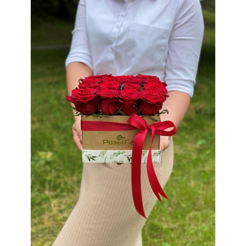 """Коробка """"Каханне"""" из 15 роз"""