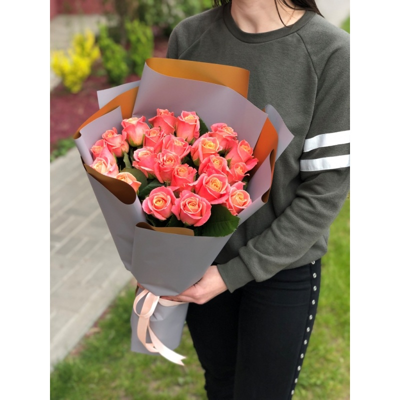 """Букет из 21 розы """"Принцесса """""""