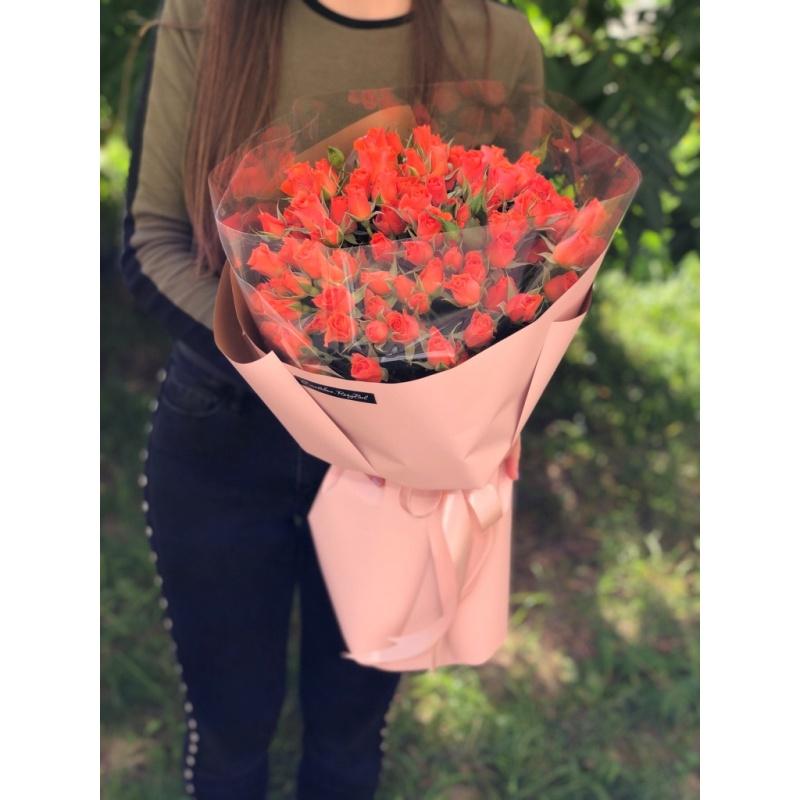 """Букет """"Рассвет"""" из 25 кустовых роз"""