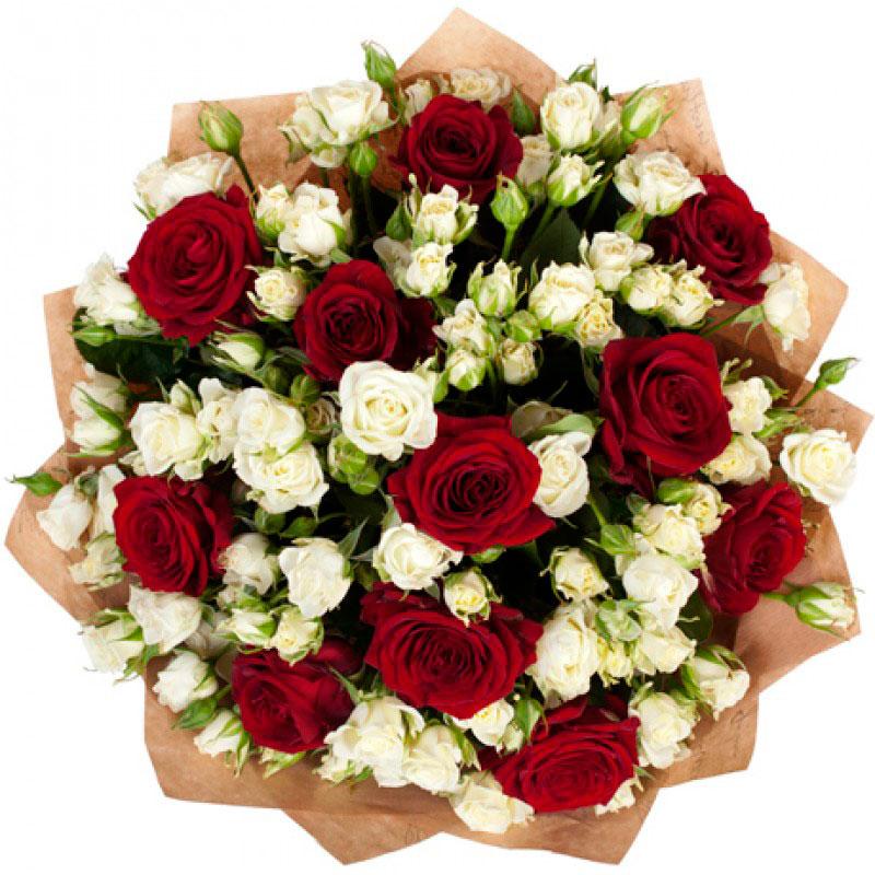 Букет роз «Яркая Леди»