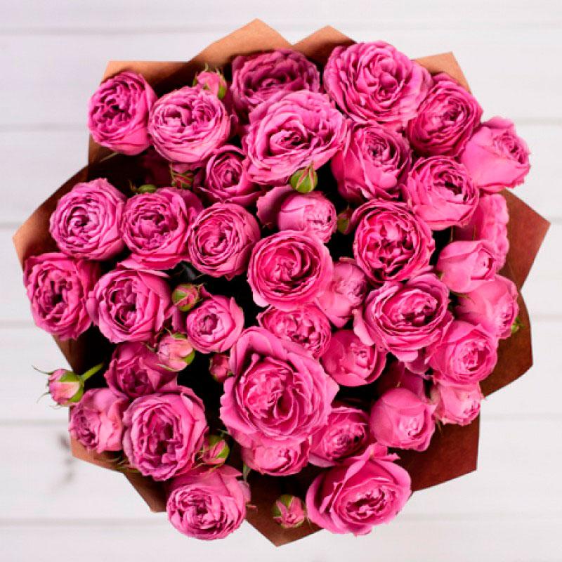 Букет из 11-ти кустовых роз «Мисти баблс»