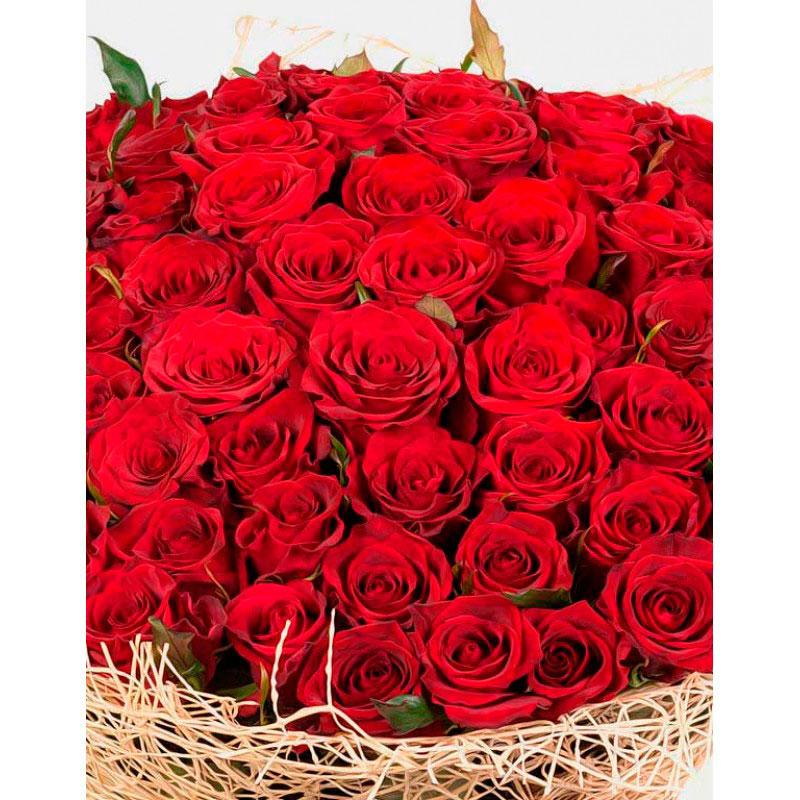 Букет красных роз 101