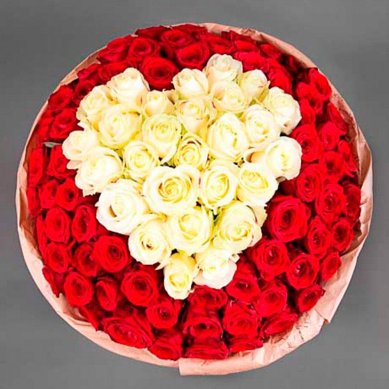 Букет «Влюблённый» (101 роза)
