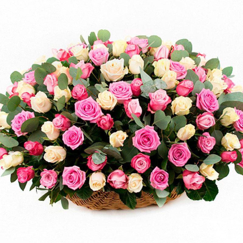 Корзина из 151 розы «Ты моя самая...»
