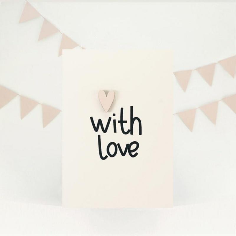 """Открытка """"With love"""""""